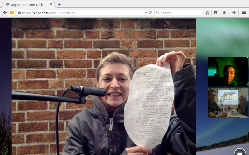 Artist's Meeting und Workshop, Videokonferenz London - Linz - Graz, Foto: Screenshot esc