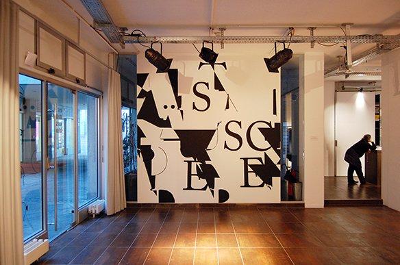 03 Wandgestaltung: Lärm ist das Geräusch der anderen – Kurt Tucholsky, Risograph, tortuga, © esc medien kunst labor