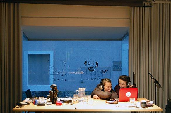 08 19.12.2015 Illustration am Fenster von Nikolaus Feinig, © esc medien kunst labor