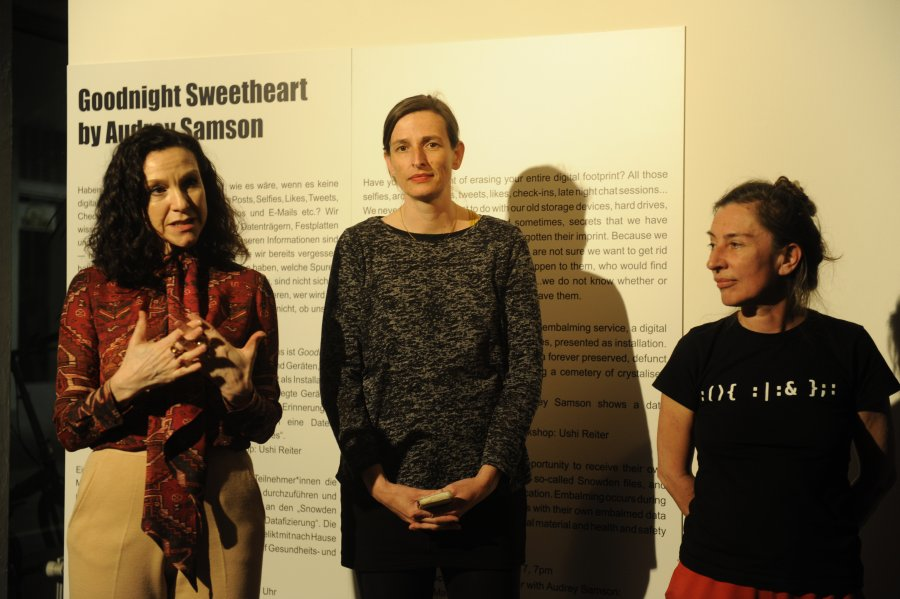 Eröffnung Goodnight Sweetheart, Konzept: Audrey Samson, Umsetzung: Ushi Reiter, Foto: Maryam Mohammadi