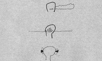 """""""Lärm und Kopf"""" – Ausschnitt aus einer Illustration von Lisa-Sophie Winklhofer in tortuga #2"""