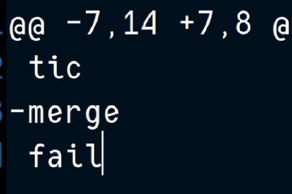 Automatic merge failed